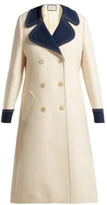 Gucci Gardenia Wool Coat - Womens - White