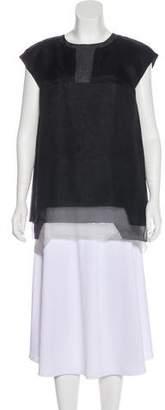 Fendi Silk-Tiered Gradient Dress