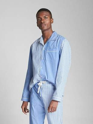 Gap Long Sleeve Oxford Pajama Top