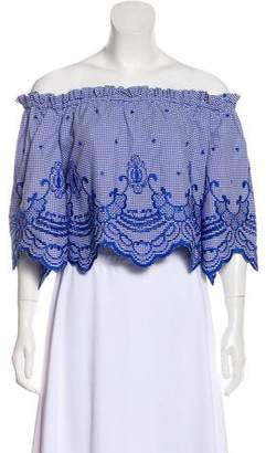 Alexis Embroidered Crop Top