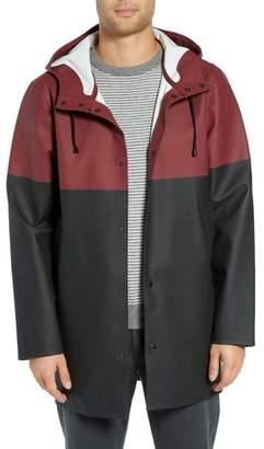 Stutterheim Stockholm Colorblock Waterproof Hooded Raincoat