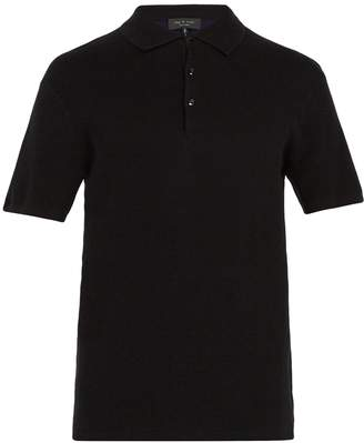 Rag & Bone Tripp cotton-blend polo shirt