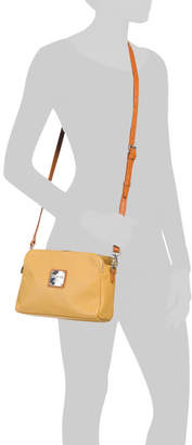 Made In Italy 3 Entry Leather Crossbody