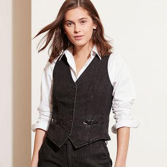 Ralph Lauren Stretch Denim Vest $135 thestylecure.com