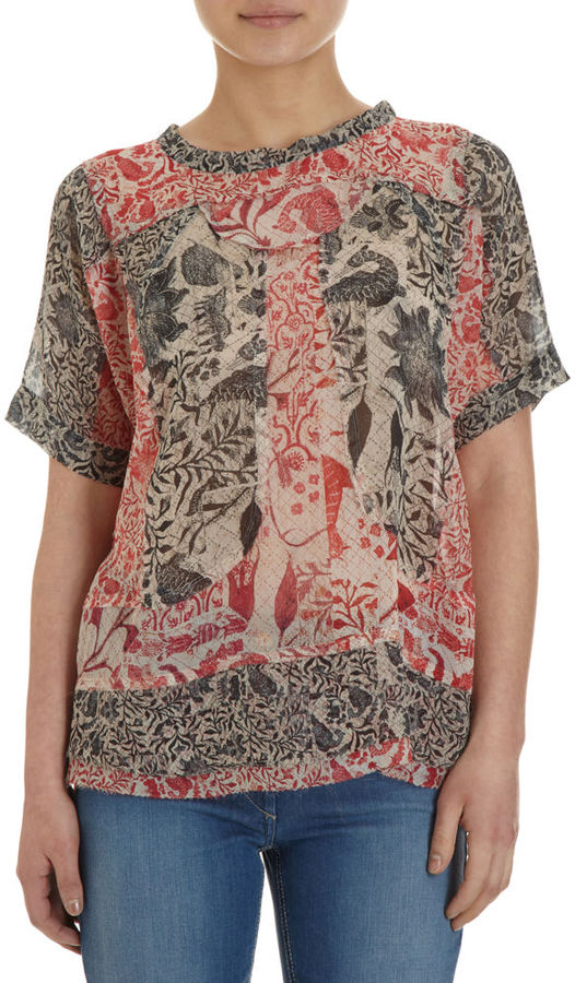 Isabel Marant Floral Short Sleeve Top