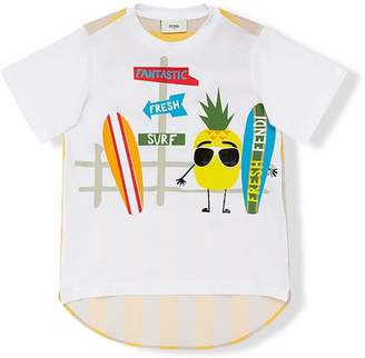 Fendi fantastic fresh surf print T-shirt