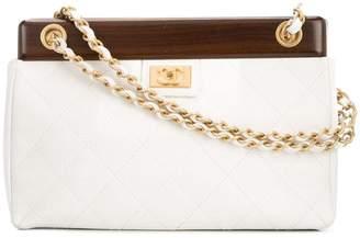 65e3c7401405 Chanel White Chain Strap Shoulder Bags - ShopStyle