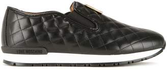 Love Moschino quilted slip-on sneakers