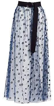 Rachel Comey Women's Sparkle Tulle Fetes Floral Overlay Skirt