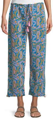 Figue Goa Bahia Beach Paisley-Print Straight-Leg Crop Pants