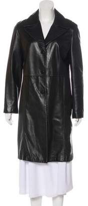 Andrew Marc Knee-Length Leather Coat
