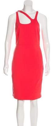 Halston Asymmetric Sleeveless Dress