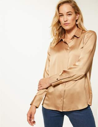 Marks and Spencer Satin Long Sleeve Shirt