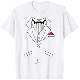 Tuxedo With Bow-tie Suit Matching Group Costume Shirt