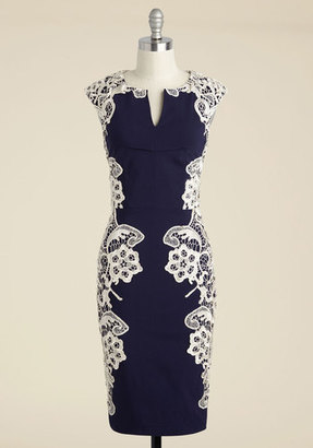 SOURCING SOLUTIO USA, INC Lakeside Libations Sheath Dress in Navy $99.99 thestylecure.com