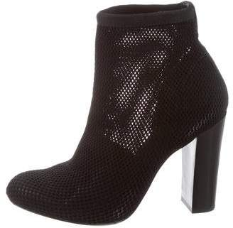 Alexander Wang Mesh Round-Toe Ankle Boots