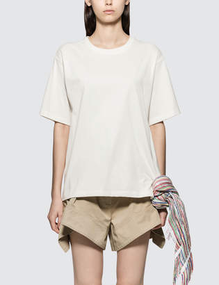 J.W.Anderson T-shirt With Multi Colour Stripe Scarf Detail