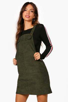 boohoo Penny Pocket Front Cord Pinafore Dress