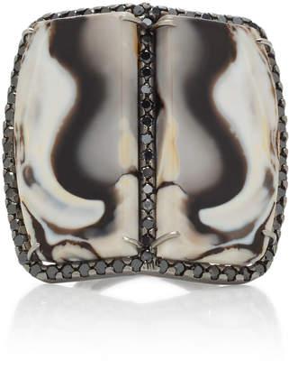 Black Diamond Kimberly McDonald 18K Gold Opal And Ring