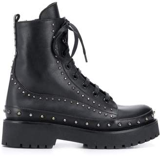 Pinko studded combat boots