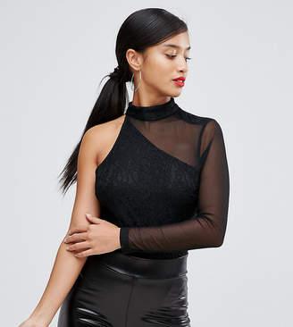 Naanaa Petite One Shoulder Long Sleeved Body