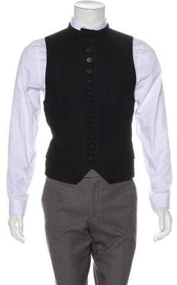 Ann Demeulemeester Fleece Wool Button-Up Vest