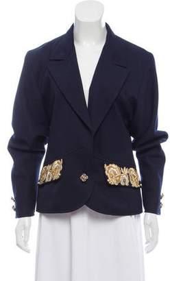 Valentino Embellished Notch-Lapel Blazer