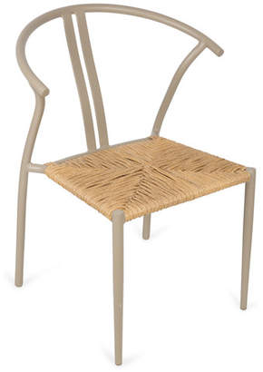 Taupe Wishbone Rattan Chair