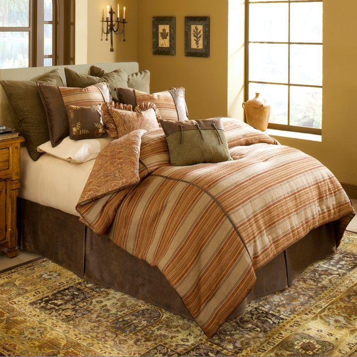 Prairie Stripe Jacquard 4-Piece Comforter Set
