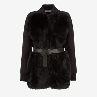 Bally Belted Shearling Cardigan