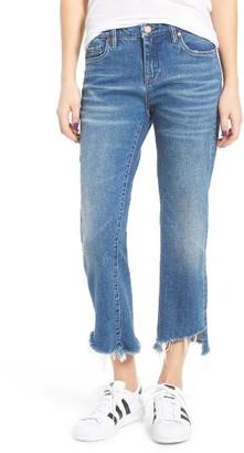 Women's Blanknyc Shredded Kick Flare Jeans $98 thestylecure.com
