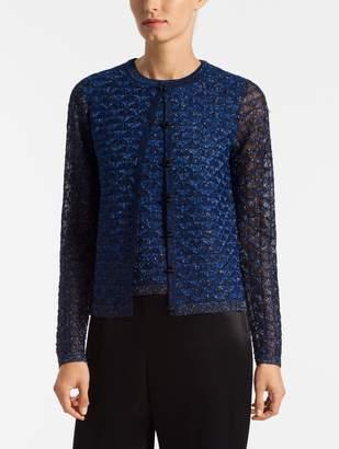 St. John Diamond Lace Knit Cardigan