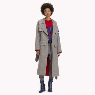 Tommy Hilfiger Wool Checked Trench Coat