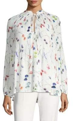 Escada Nabba Floral Pleat Blouse