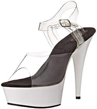 Pleaser USA Women's Delight-608UV/C/NW Platform Sandal