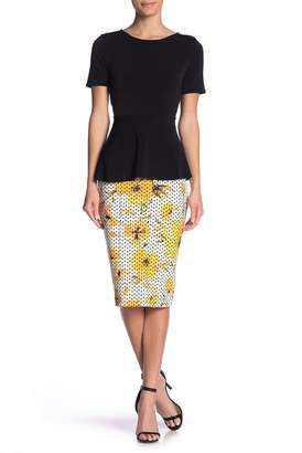ECI Print Obsessed Floral Pencil Skirt