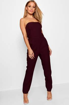 boohoo Petite Bandeau Tailored Jumpsuit