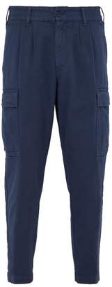 Barena Venezia - Cropped Stretch Cotton Gabardine Cargo Trousers - Mens - Navy