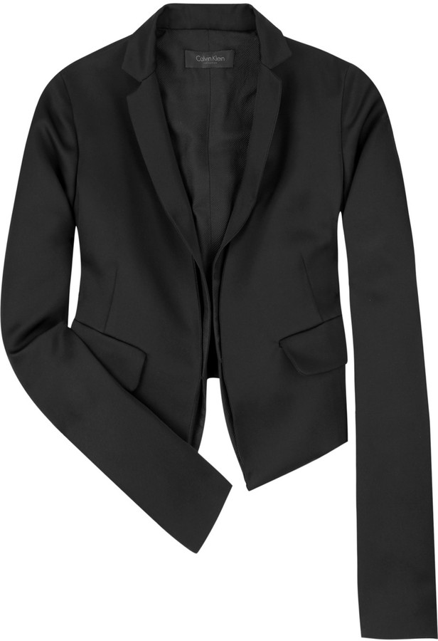 Calvin Klein Meghan cropped tuxedo