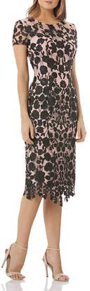 JS Collections Floral Embroidered Dress