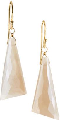 A.V. Max Large Moonstone Drop Earrings, White
