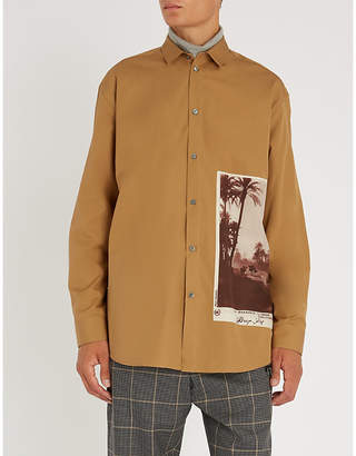 Oamc Postcard-print regular-fit shirt
