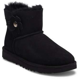 UGG Mini Bailey Button Poppy Genuine Shearling Boot