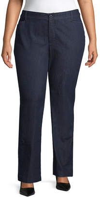 ST. JOHN'S BAY Secretly Slender Bi-Stretch Straight Leg Pant- Plus