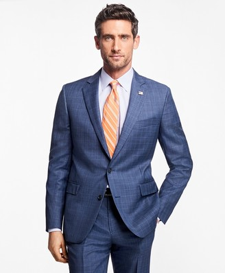 Brooks Brothers Regent Fit Plaid with Overcheck 1818 Suit