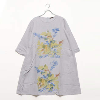 Kan-Kan カンカン KANKAN 手描きフラワープリントドレス