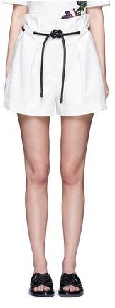 3.1 Phillip Lim3.1 Phillip Lim Origami pleat tie waist shorts