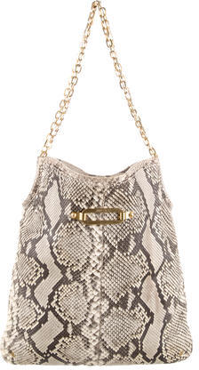 Jimmy Choo Jimmy Choo Snakeskin Shoulder Bag