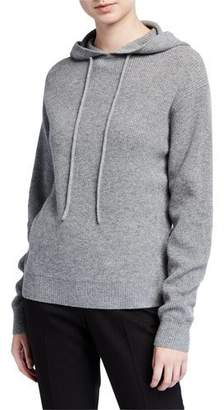 Theory Hooded Cashmere Pullover Sweater