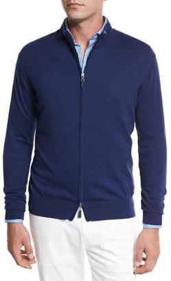 Peter Millar Crown Soft Full-Zip Sweater, Navy $165 thestylecure.com
